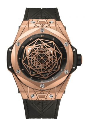 HUBLOT Big Bang Unico Sang Bleu皇金腕錶,建議售價NT$1,332,000