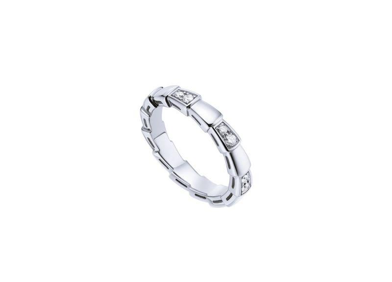 AN857898_BVLGARI SERPENTI VIPER RING 白K金鑽石戒指,參考價格 約新台幣81,000元