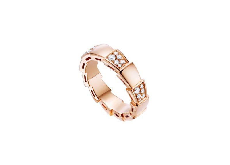 AN857928_BVLGARI SERPENTI VIPER RING玫瑰金鑽石戒指,參考價格 約新台幣113,500元