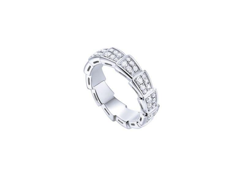 AN857940_BVLGARI SERPENTI VIPER RING 白K金鑽石戒指,參考價格 約新台幣191,400元