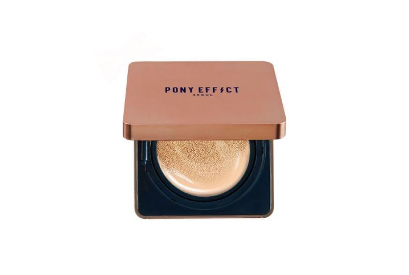 PONY EFFECT 持久無瑕氣墊粉餅SPF50+/PA+++,15g*2,NT$1650(共5色)