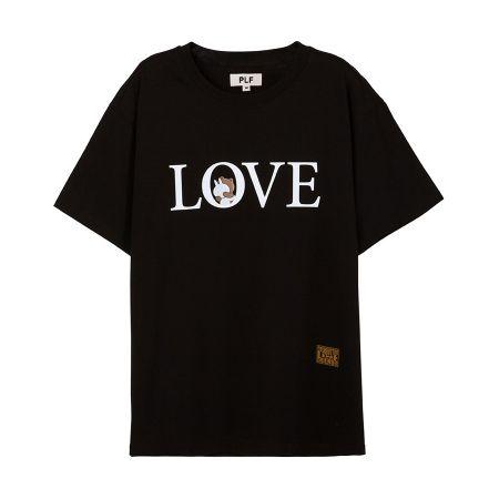 LOVE字母短袖T-shirt(黑)$1,280
