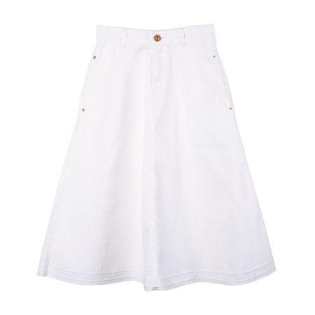 丹寧及膝裙( 白)$3,080