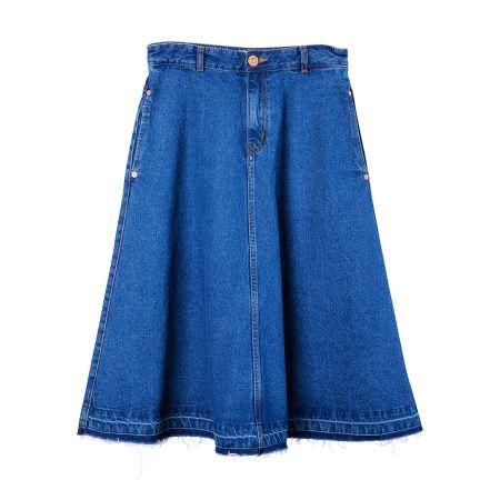 丹寧及膝裙( 藍)$3,080