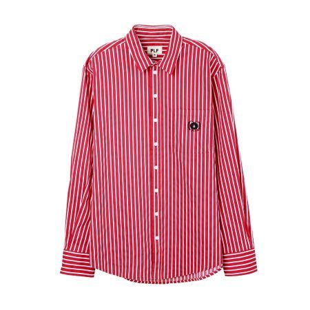 直條紋長袖襯衫(紅)$3,280
