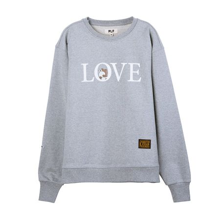 長袖棉衫(LOVE)_ 灰$2,780