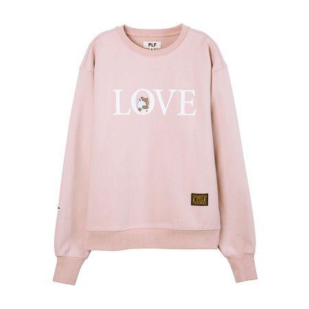 長袖棉衫(LOVE)_ 粉紅$2,780