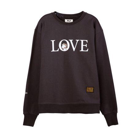 長袖棉衫(LOVE)_ 深灰$2,780
