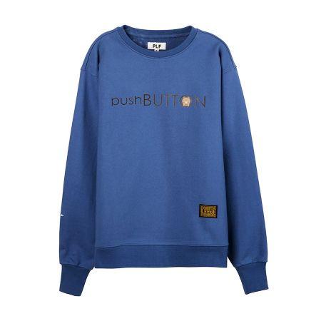 長袖棉衫(pushBUTTON)_ 藍$2,780