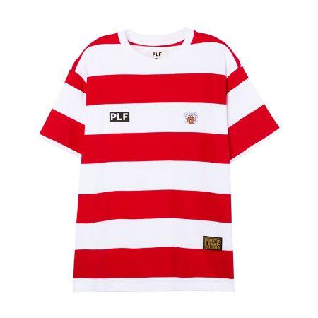 圓領橫條短袖T-shirt(紅)$1,680-1