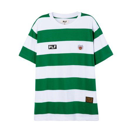 圓領橫條短袖T-shirt(綠)$1,680