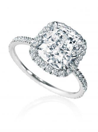 海瑞溫斯頓Micropavé極細微密釘鑲嵌訂婚鑽戒