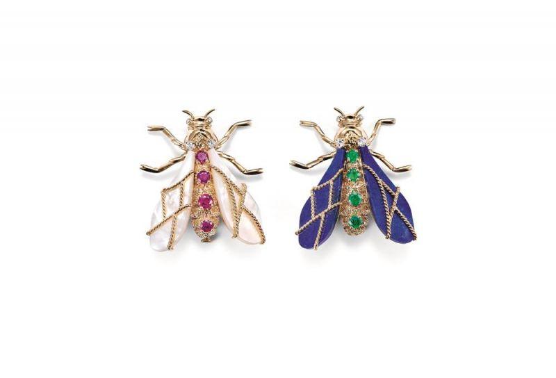 象徵拿破崙家徽的蜜蜂胸針,約1975年