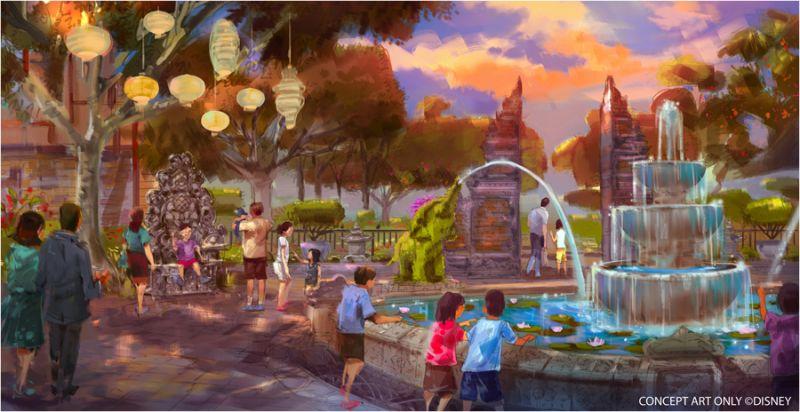 亞洲區小哈頓庭園概念圖