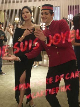 白歆惠白白與卡地亞男孩一起自拍</p> <p> 圖片版權為《美麗佳人》所有