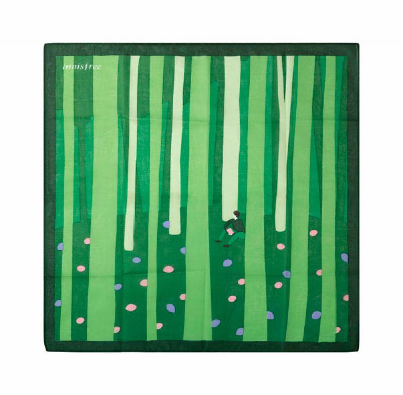 innisfree 2017限定手帕 被暖陽照射的詩留依森林