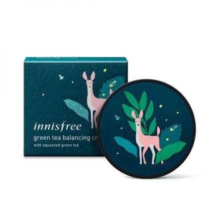innisfree綠茶水平衡面霜 環保手帕限定版