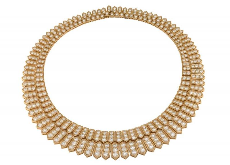 BVLGARI Serpenti 系列頂級玫瑰金鑽石項鍊