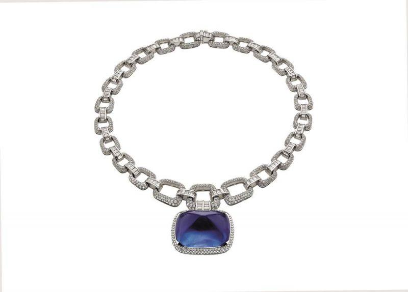 BVLGARI Festa系列Il Magnifico頂級藍寶石與鑽石項鍊