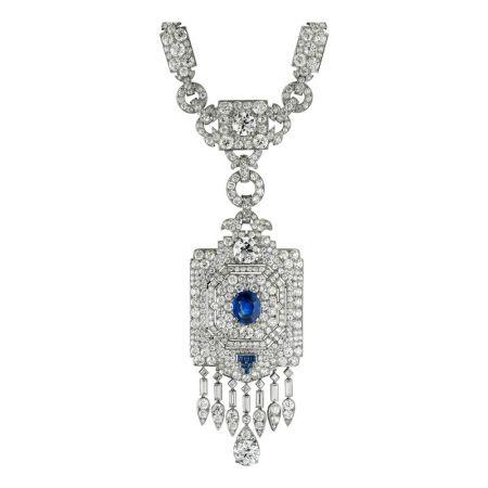 卡地亞古董珍藏系列藍寶石墜飾長鍊