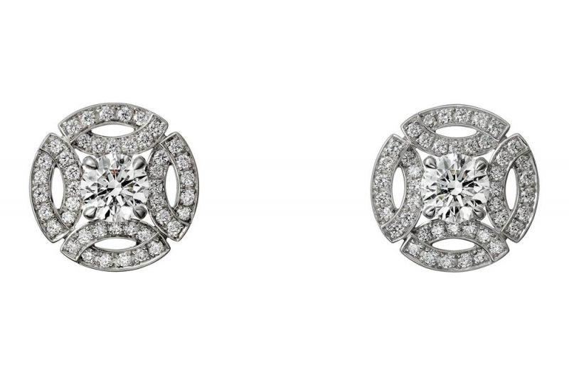 卡地亞Galanterie系列鑽石耳環