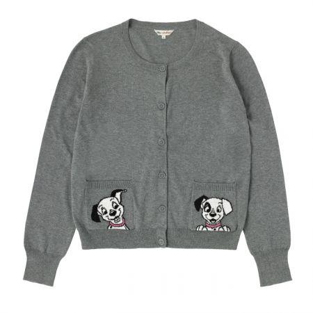 Cath Kidston 101忠狗聯名系列 灰色開襟針織衫 NT$4,480