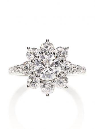 海瑞溫斯頓Sunflower系列鑽石戒指