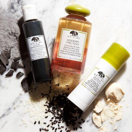 Origins品木宣言2017洗顏新品執米不悔純米精萃潔顏油、執米不悔純米精萃潔膚棒、泥娃娃活性碳潔顏粉