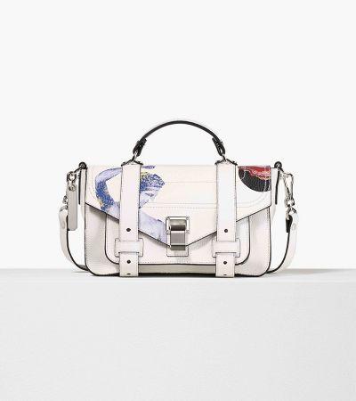 白色彩繪PS1肩背手提包,Proenza Schouler,NT61,000。