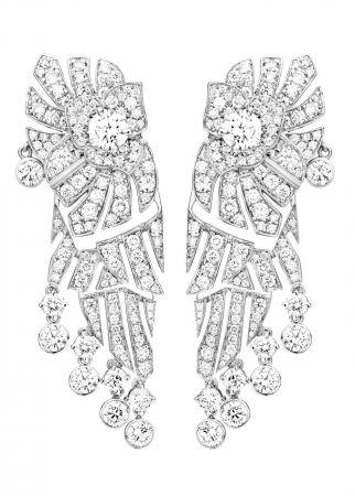 Piaget Limelight Mediterranean Garden耳環18K白金鑲嵌272顆圓形美鑽(約5.48克拉)中央2顆圓形美鑽(約1.02克拉)台幣參考售價 3,720,000