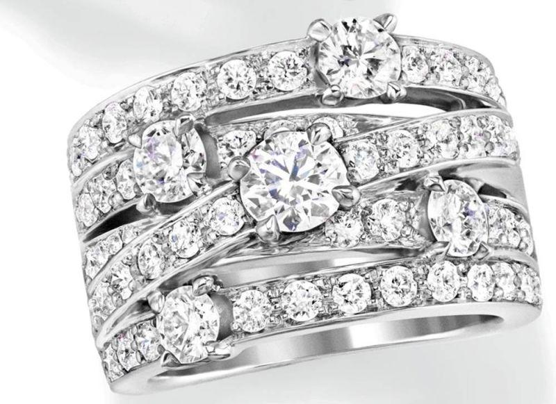 海瑞溫斯頓Crossover鑽石戒指