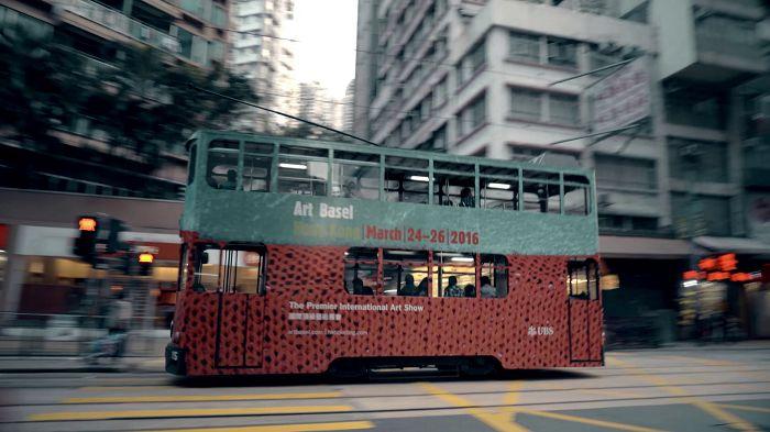 香港巴塞爾藝術博覽會(Art Basel)宣傳巴士