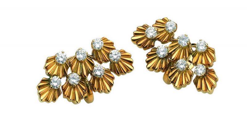 BVLGARI Heritage 古董系列黃金鑽石耳環 (Diane Kruger配戴款)