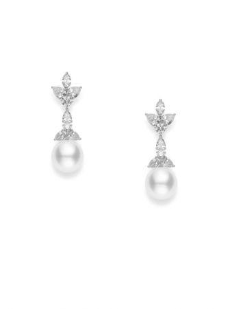 MIKIMOTO 頂級珠寶系列 美樂真珠鑽石耳環