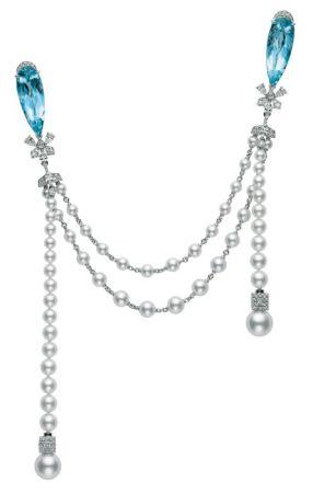 MIKIMOTO 頂級珠寶系列 海水藍寶日本Akoya真珠鑽石胸針