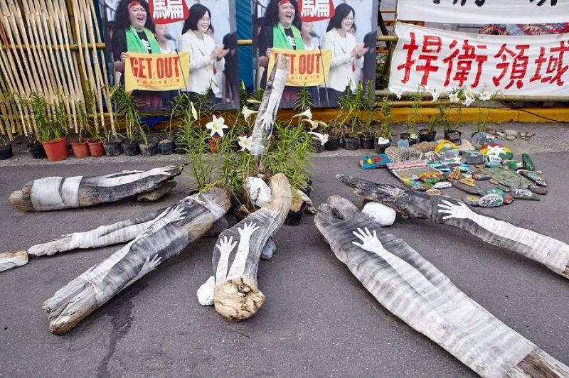 綻放的台灣原生種百合花,以及原民藝術家的作品