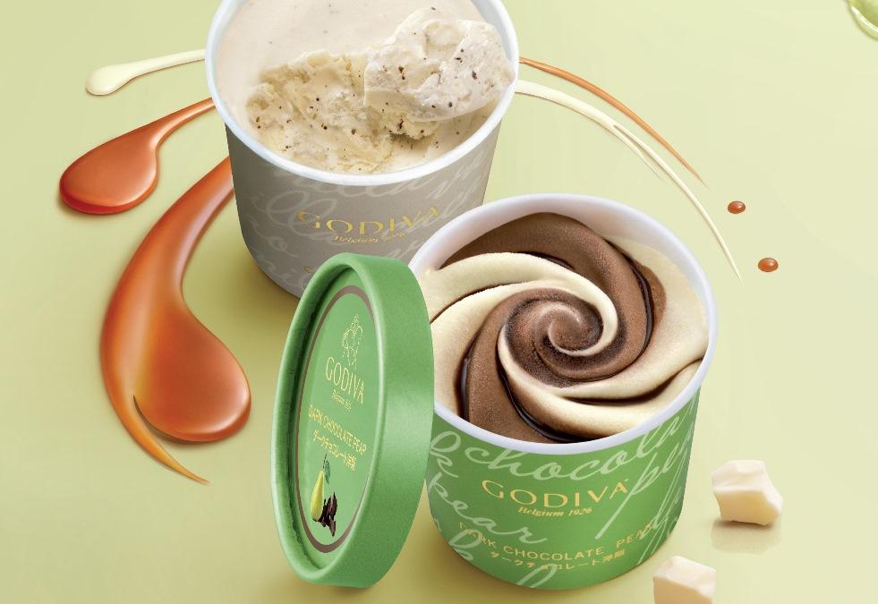 心形巧克力碎在裡面 Godiva甜蜜閱冰典禮八款口味都想GET