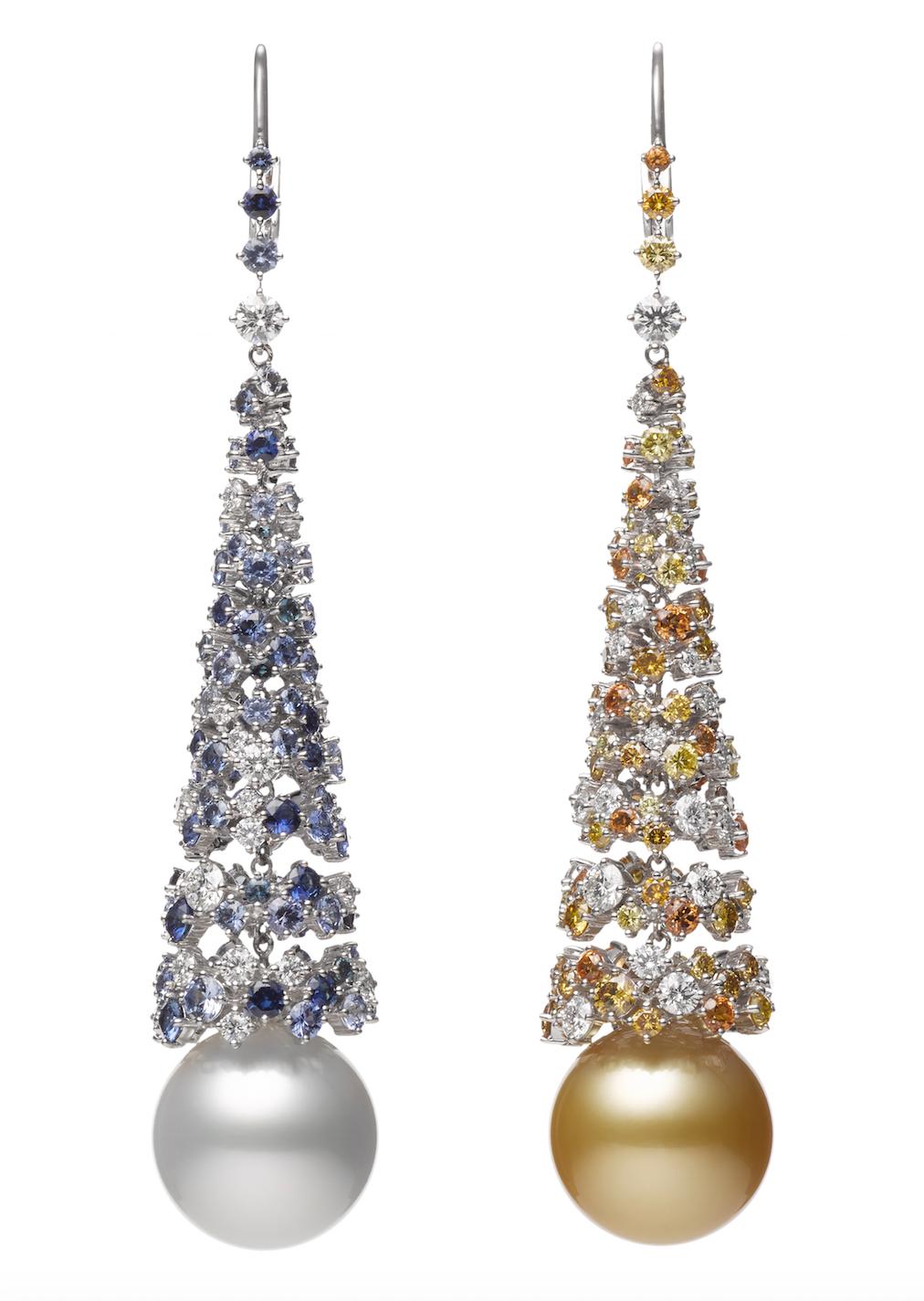 米倉涼子穿戴MIKIMOTO Praise to Nature頂級珠寶系列《海洋》南洋真珠耳環,台幣約3,340,000元