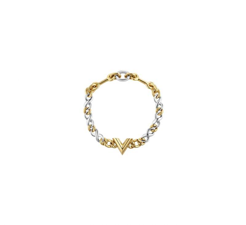 雙色字母頸鍊,Louis Vuitton。
