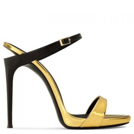 雙色高跟涼鞋,Giuseppe Zanotti。