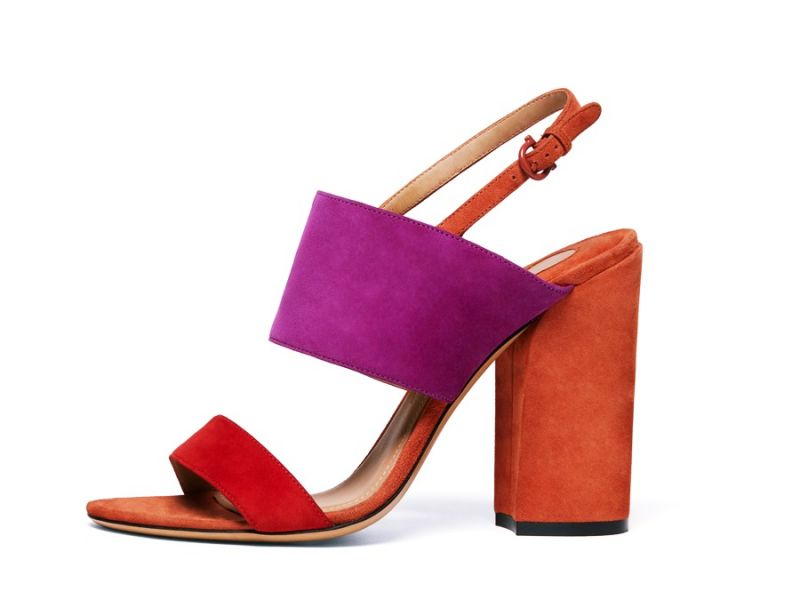 ELBA多色拼接羊麂皮涼鞋, 建議售價NT$23,900