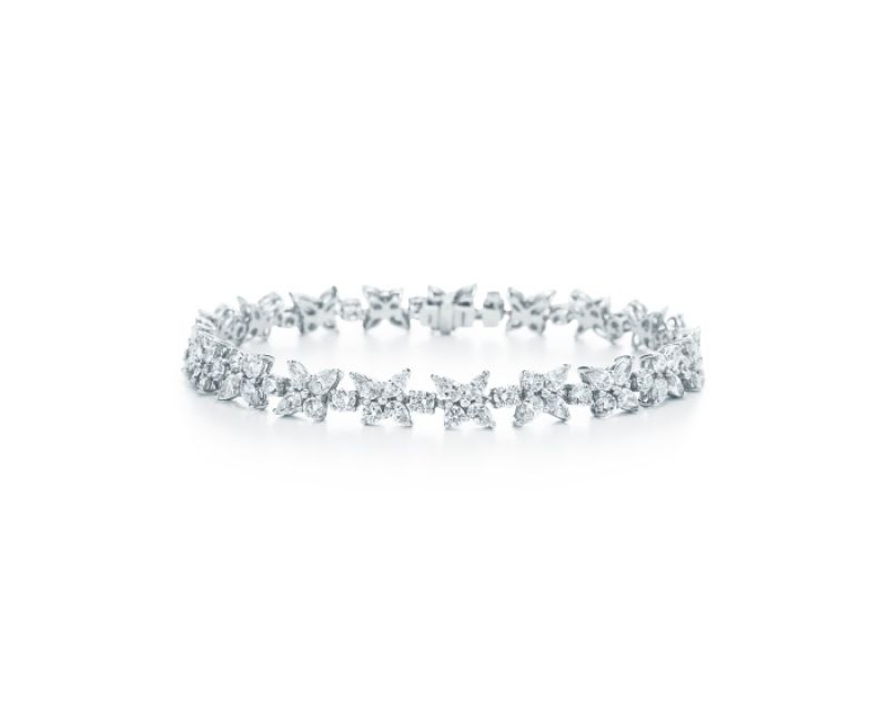 Tiffany Victoria系列鉑金鑲鑽手鍊