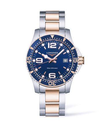 浪琴表深海征服者系列海藍色面盤雙色金潛水錶(L3.740.3.98.7),建議售價NT$36,300