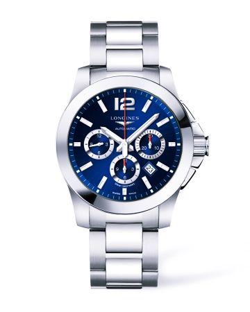 浪琴表征海者系列夜藍色運動計時碼錶(L3.801.4.96.6),建議售價NT$67,400