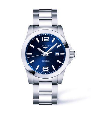 浪琴表征海者系列夜藍色大三針腕錶(L3.778.4.96.6),建議售價NT$38,000