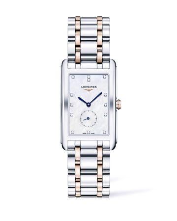 浪琴表新多情系列珍珠母貝點鑽雙色金腕錶(L5.755.5.87.7),建議售價NT$76,100