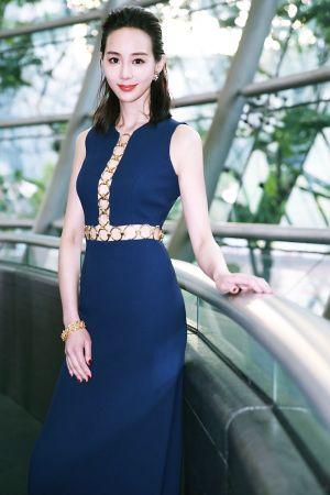 張鈞甯配戴BVLGARI Heritage典藏系列頂級黃金與鑽石耳環及項鍊展現優雅