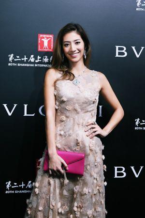 瑞瑪席丹配戴BVLGARI 義大利花園頂級珠寶系列出席上海電影節義大利電影周開幕