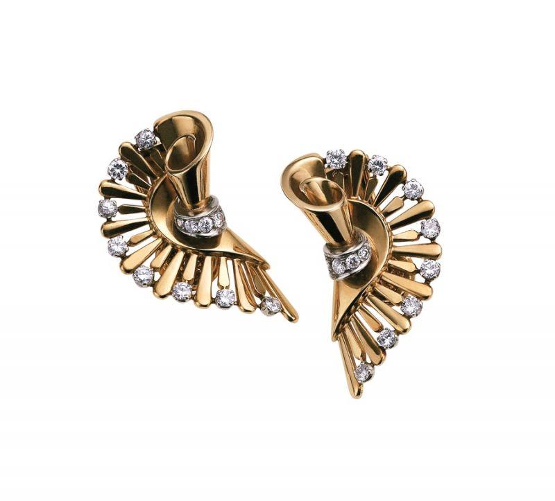 BVLGARI Hertaige典藏系列頂級黃金與鑽石耳環(MUS0267)