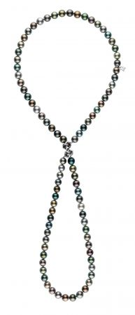 MIKIMOTO Double Eight漸變色南洋黑真珠串鍊,500,000元。